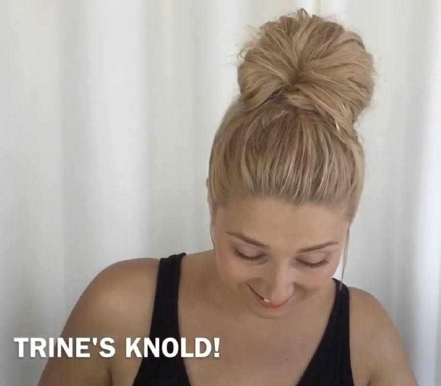 hvordan laver man en knold i håret
