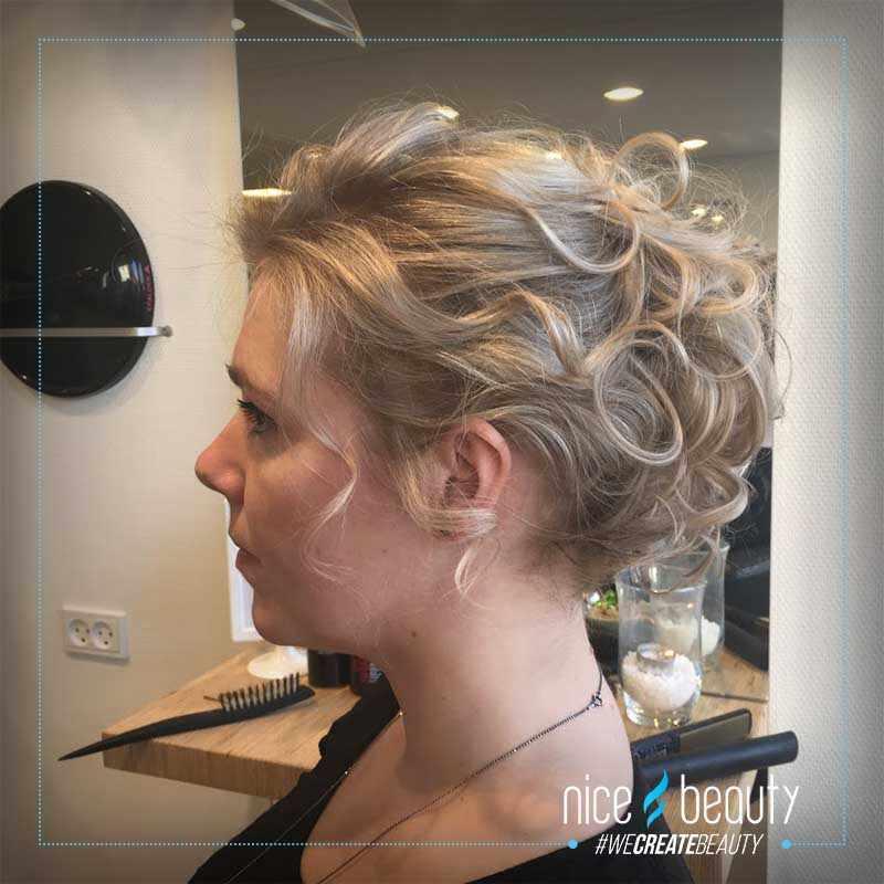 fest frisure til kort hår