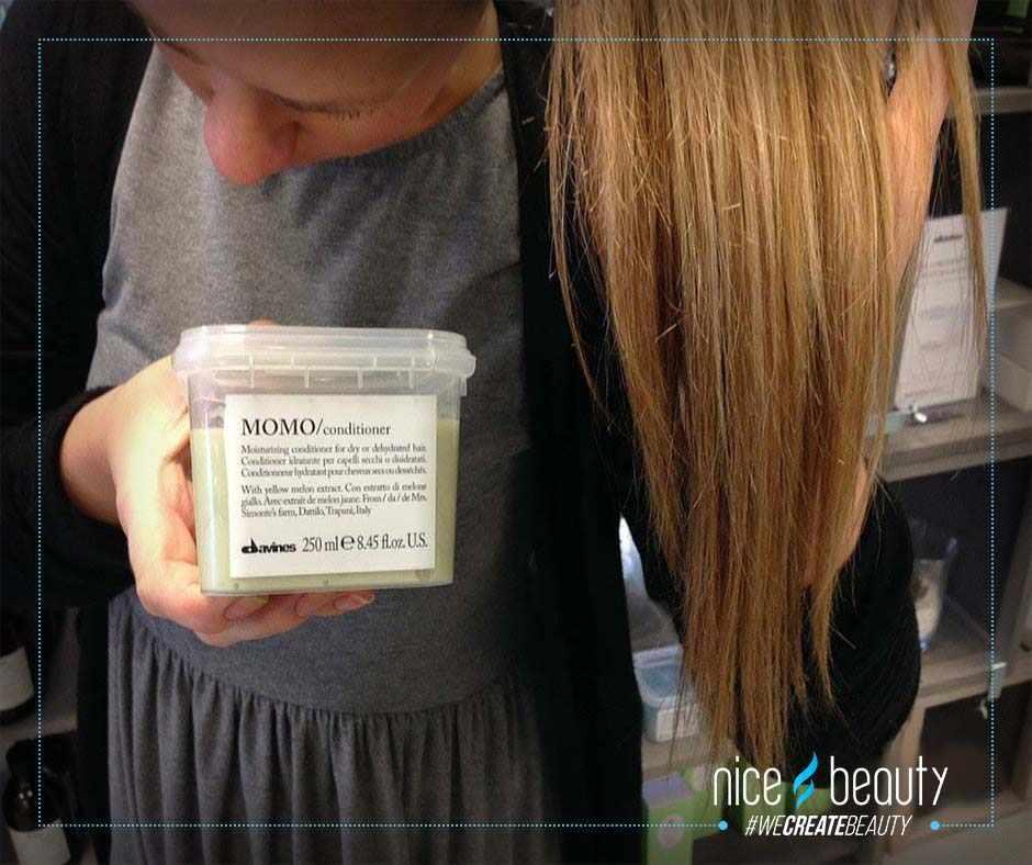 Balsam i tørt hår