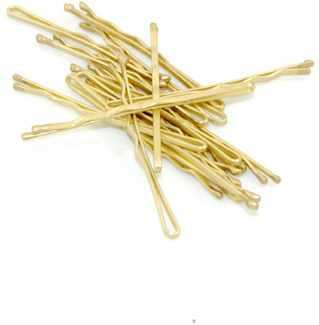 15 stk. Wavy Hair Grips Gold (Blond) thumbnail