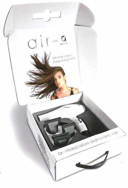 Gorgeous Air Ceramic Hairdryer Hvid