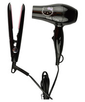 Hello Kitty Travel Set (Hair Dryer + Straightener) Black (US)