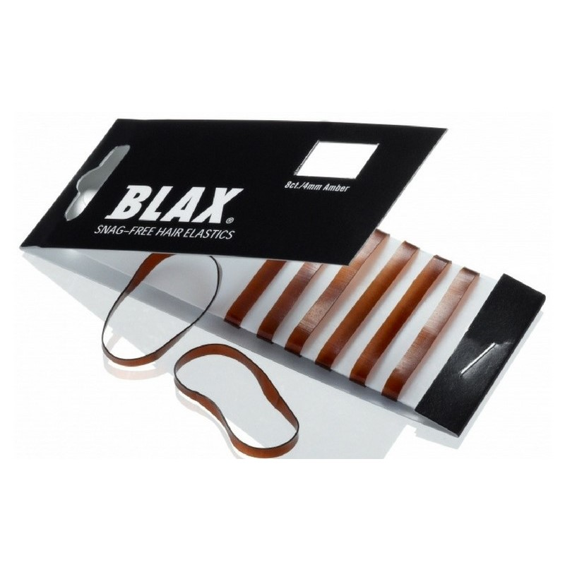 Blax Hair Elastics 8 Pieces - Brown thumbnail