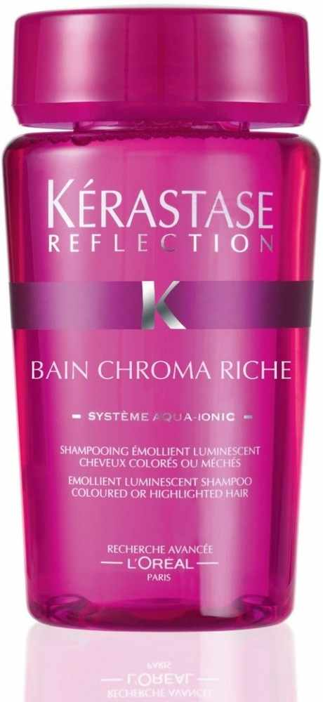 K rastase reflection bain chroma riche shampoo 80 ml u for Kerastase reflections bain miroir shampoo
