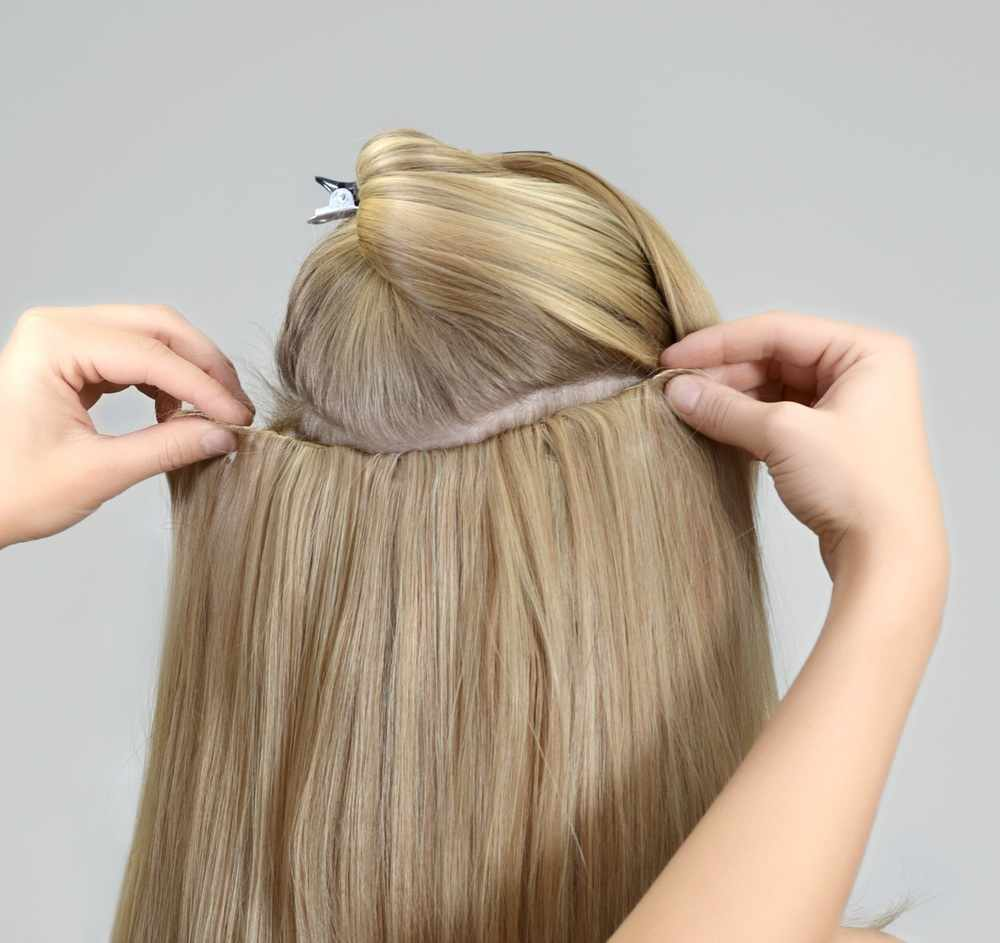 Haircontrast Haircontrast bouncebounce extension - krollet 60 cm - farve 8001 us fra nicehair.dk