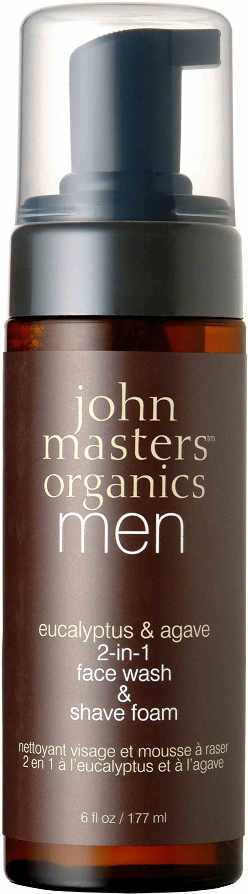 John Masters Eucalyptus & Agave 2-in-1 Face Wash & Shave Foam 177 ml