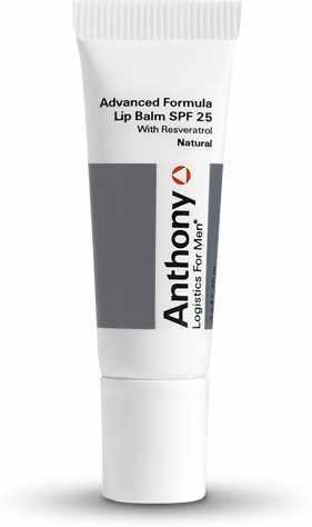 Anthony Logistics For Men - Advanced Formula Lip Balm Natural SPF 25 US