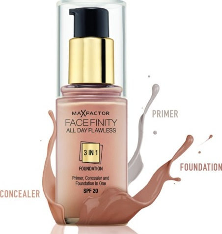 Max Factor Facefinity All Day Flawless 3 In1 Foundation Spf 20 - 30 ml Vælg Farve