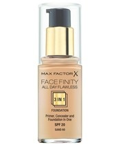 Max Factor Facefinity All Day Flawless 3 In1 Foundation Spf 20 - Sand 60