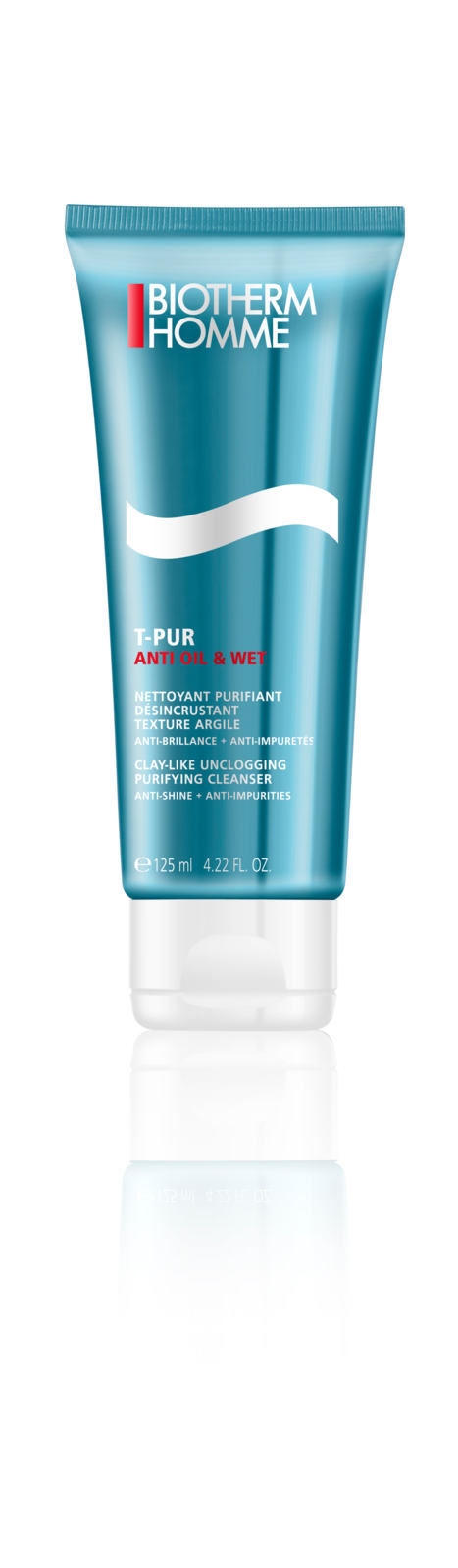 Biotherm T-Pur Anti Oil & Wet Clay Like Unclogging Purifying Cleaner Reinigingsgel 125 ml