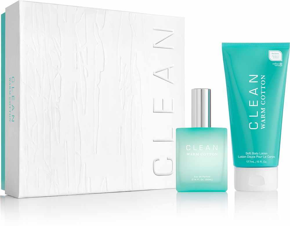 Foto van Clean Perfume Warm Cotton Gift Set 2 stk U