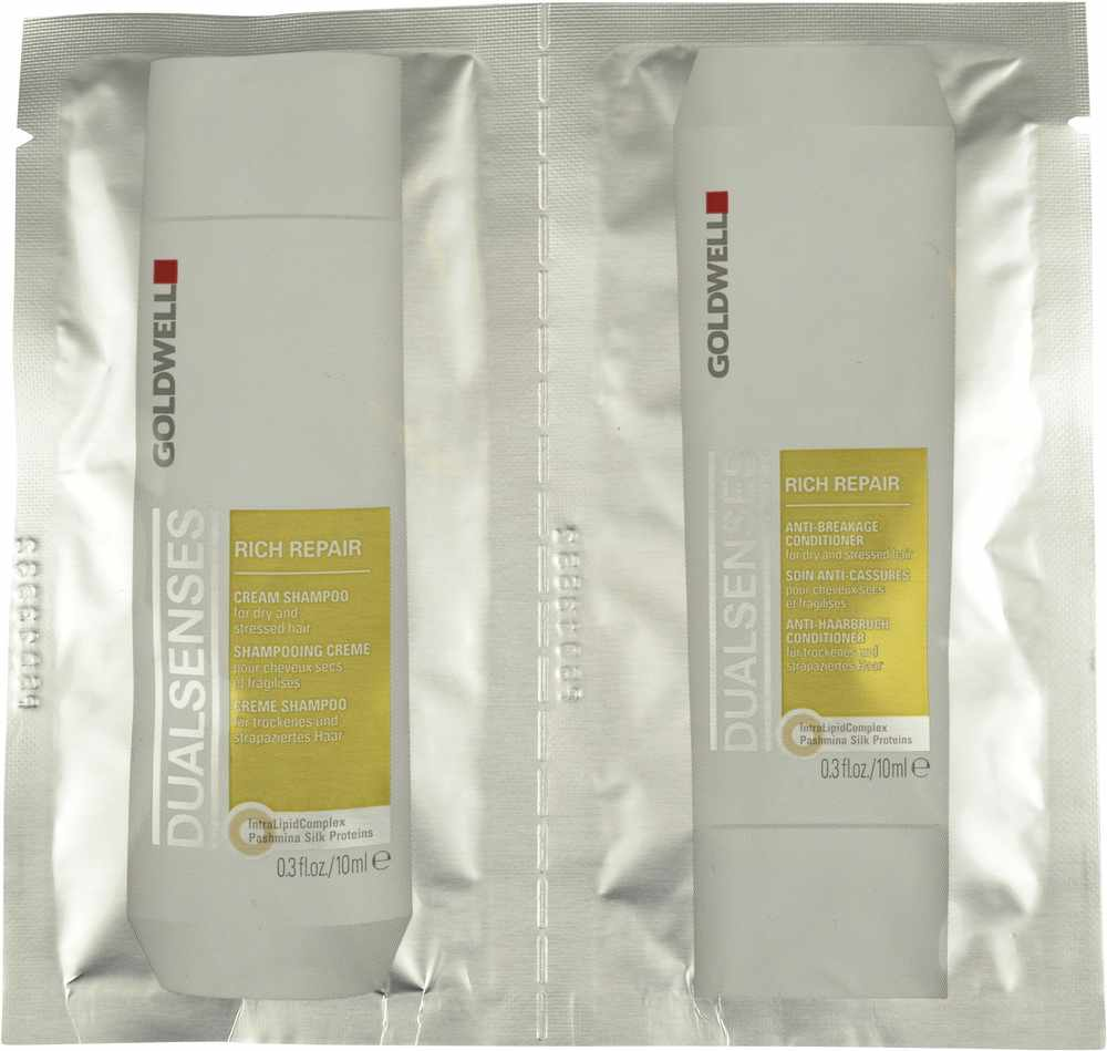 Goldwell Dualsenses Rich Repair Cream Shampoo & Rich Repair Anti-Breakage Conditioner 2x10ml (gl. design)