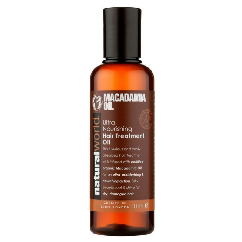 Natural world – Natural world macadamia oil ultra nourishing shampoo 500 ml på nicehair.dk