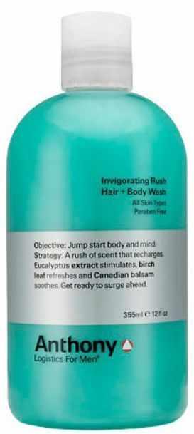 Anthony Invigorating Rush HairBody Wash For Men 355ml US