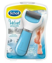 Scholl Velvet Smooth Diamond Crystals Elektronisk Fodfil Blå