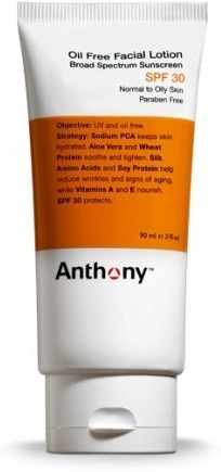 Mens anthony facial products