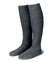 Karmameju Cozy Fleece Socks W. Suede Sole Grey Str. Small