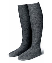 Karmameju Cozy Fleece Socks W. Suede Sole Grey Str. Medium
