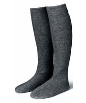 Karmameju Cozy Fleece Socks W. Suede Sole Grey Str. Large