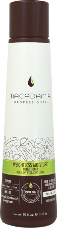 Macadamia – Macadamia weightless moisture shampoo 300 ml på nicehair.dk