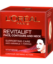 L'Oréal Paris Revitalift Face, Contours And Neck Supporting Care 50 ml