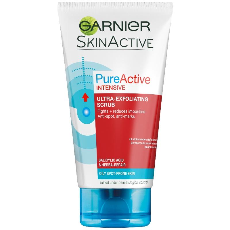 Garnier Skinactive Cleansing Pureactive Intensive Exfoliating Cream Wash 150 Ml