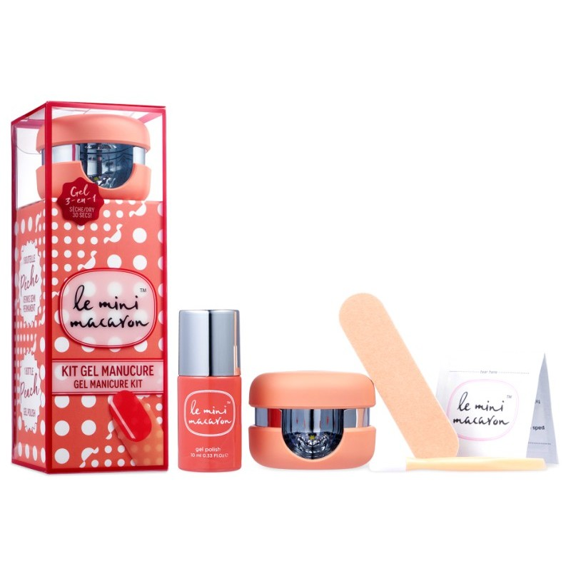 Le mini macaron gel manicure kit - strawberry pink fra Le mini macaron fra nicehair.dk