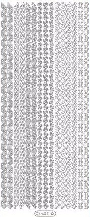 Nail diva professional – Nail diva skabelon stickers - mixed borders 1 ark fra nicehair.dk