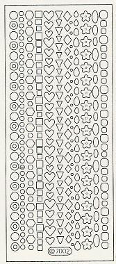 Nail diva professional – Nail diva skabelon stickers - corner shapes 1 ark fra nicehair.dk