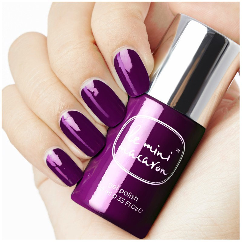 Le Mini Macaron Gel Polish - Blackberry 10 ml