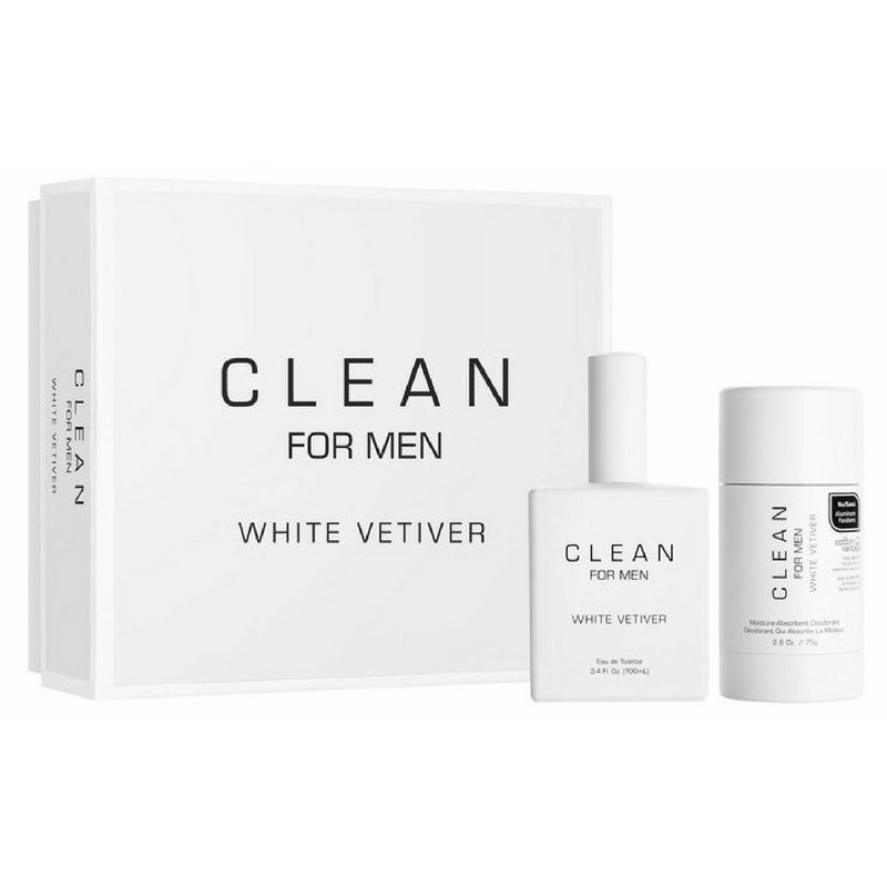 Foto van Clean Perfume For Men White Vetiver Gaveaeske U