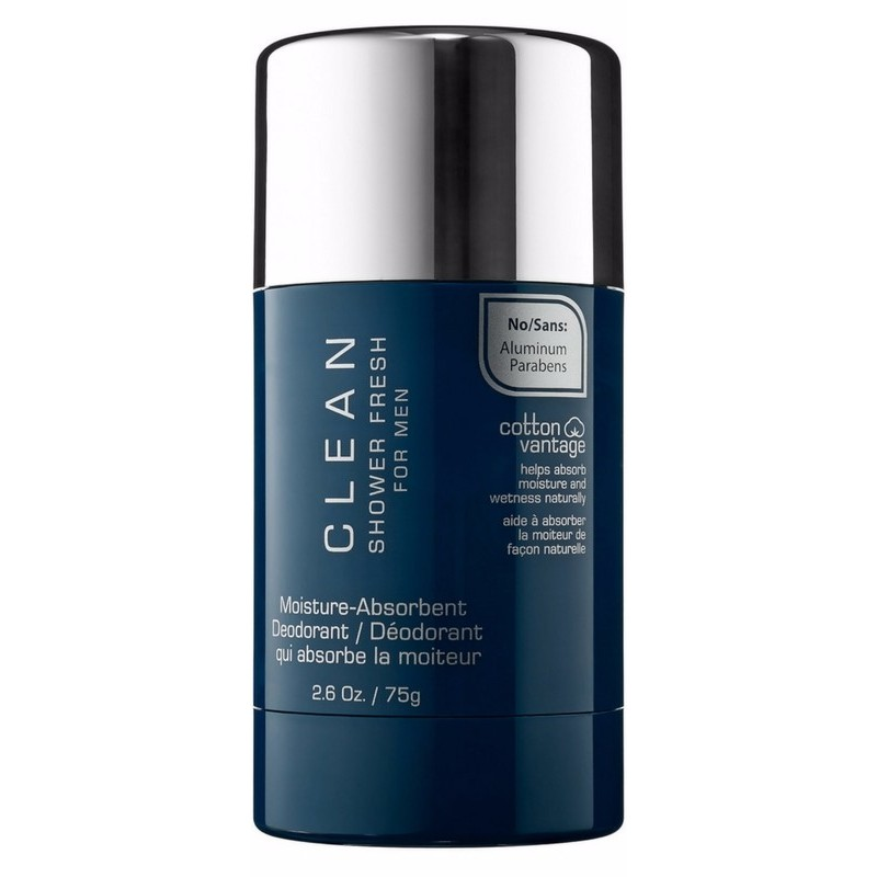 Foto van Clean Perfume Shower Fresh For Men Deodorant 75 gr