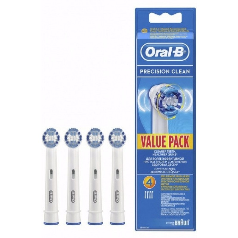braun oral b precision clean toothbrush heads 4 pcs us. Black Bedroom Furniture Sets. Home Design Ideas