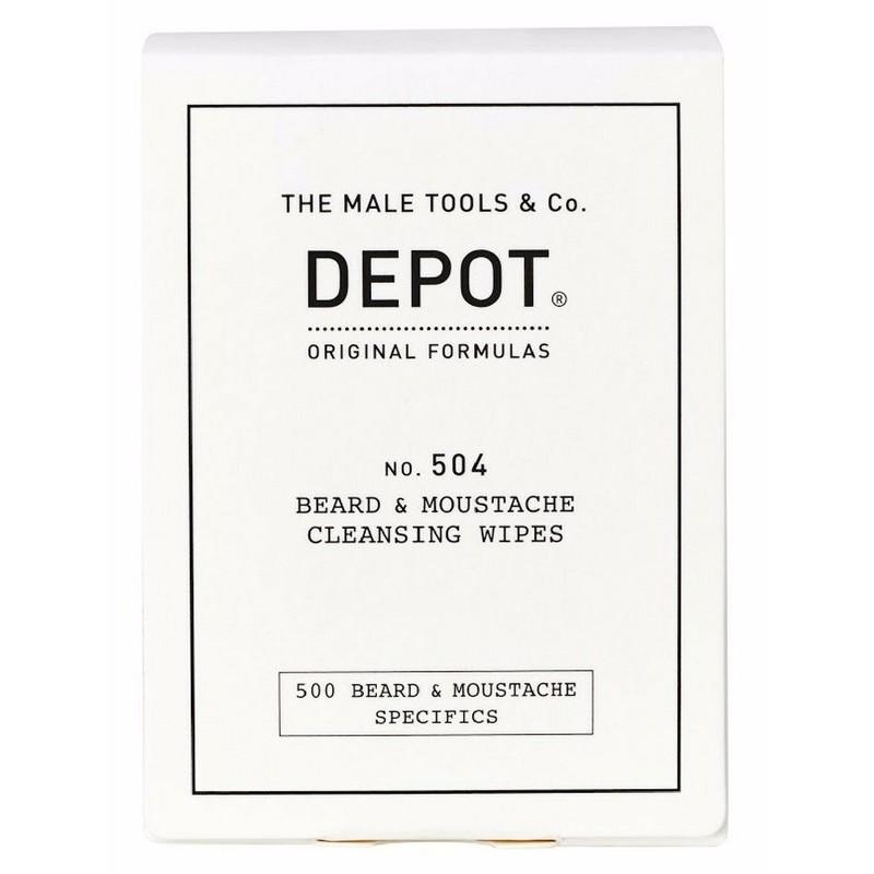 Depot No. 504 Beard & Moustache Cleansing Wipes 12 Stk