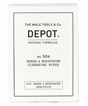 Depot No. 504 Beard & Moustache Cleansing Wipes 12 Pieces (U)