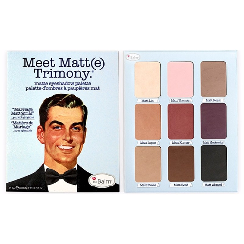 theBalm Meet Matt(e) Trimony Eyeshadow Palette 21,6 gr.