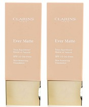 Clarins Ever Matte SPF 15 Oil-Free Foundation 30 ml - Wahl der Farbe