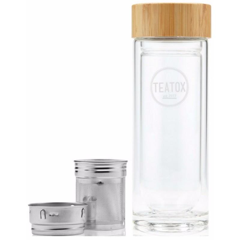 Teatox glass tea mug 350 ml fra Teatox fra nicehair.dk
