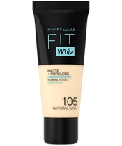 Maybelline Fit Me Matte + Poreless Foundation Normal To Oily 30 ml - 105 Natural Ivory