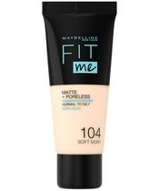 Maybelline Fit Me Matte + Poreless Foundation Normal To Oily 30 ml - 104 Soft Ivory