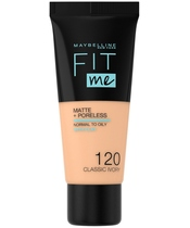 Maybelline Fit Me Matte + Poreless Foundation Normal To Oily 30 ml - 120 Classic Ivory