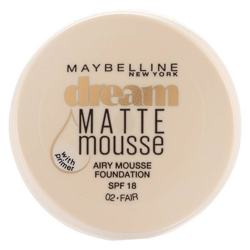 Maybelline Dream Matte Mousse Foundation SPF 18 18 ml 02 Fair