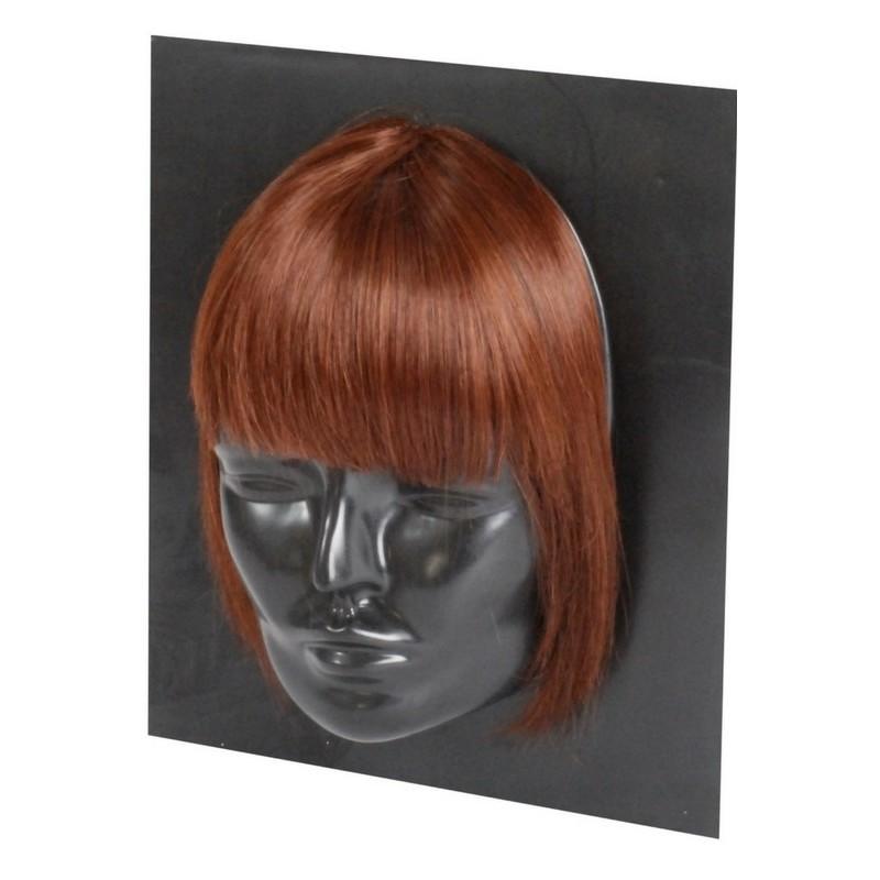 Haircontrast – Haircontrast fringe extensions dark chocolate us på nicehair.dk