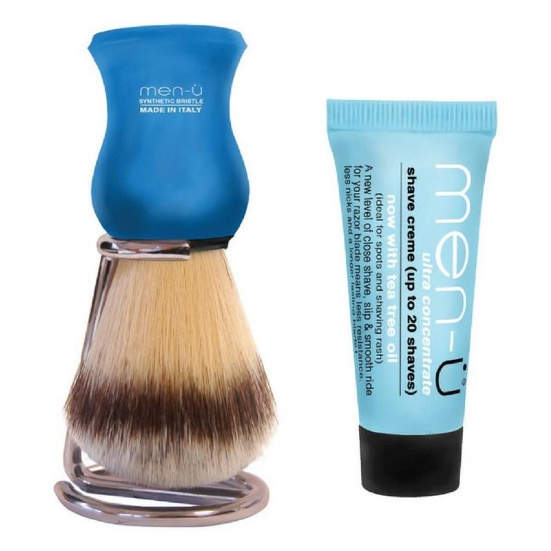 Men-u premier synthetic bristle white shave creme 15 ml fra Men-u på nicehair.dk