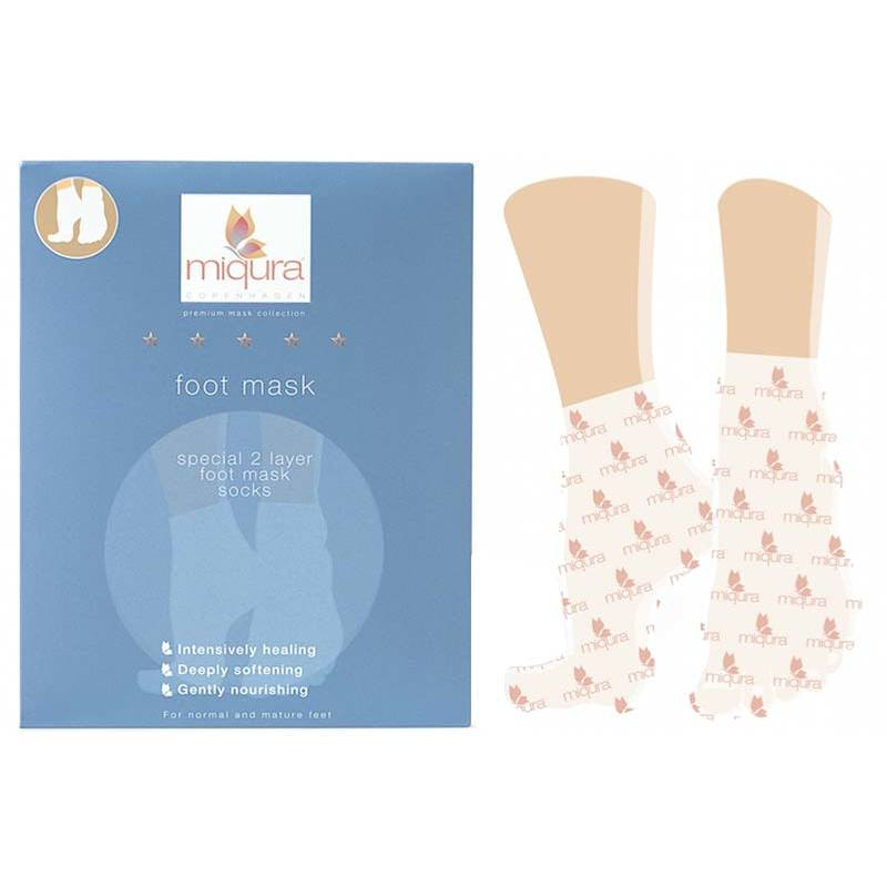 Miqura 2 Layer Foot Mask Socks 5 par