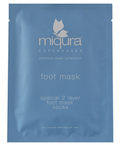 Miqura 2 Layer Foot Mask Socks 1 Pair