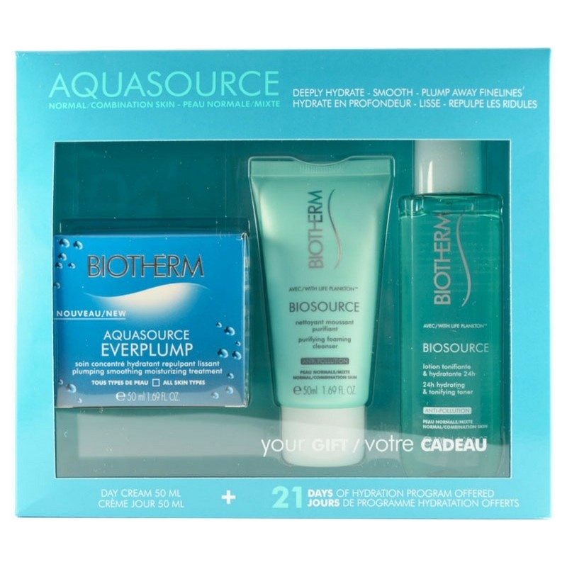 Biotherm Aquasource Everplump Hydra Trio Set NormalCombination Skin