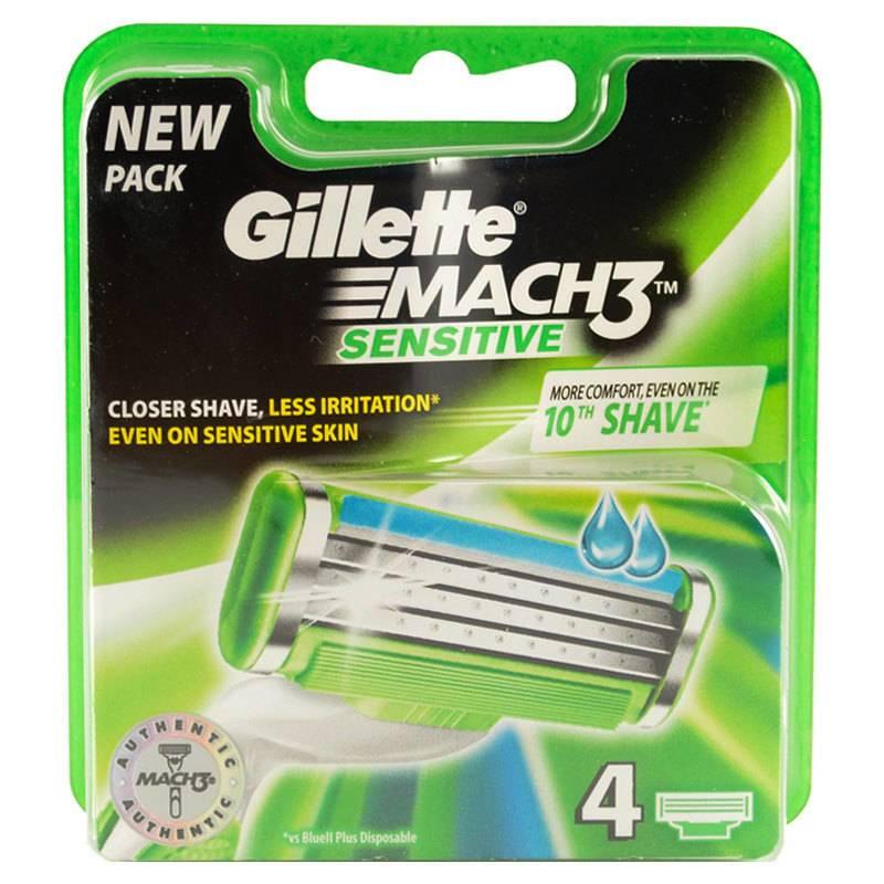 Gillette Mach3 Sensitive 4 blade