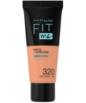 Maybelline Fit Me Matte + Poreless Foundation Normal To Oily 30 ml - 320 Natural Tan