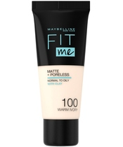 Maybelline Fit Me Matte + Poreless Foundation Normal To Oily 30 ml - 100 Warm Ivory